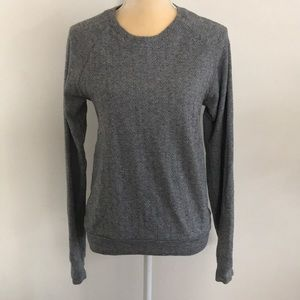 American apparel crew herringbone sweater